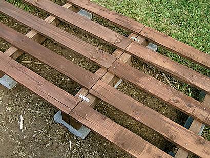 Přístřešek na dřevo z palet