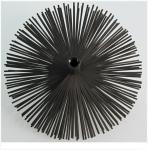 Kartáč komínový nerezový - štosákový, z nerez pásků, průměr 160, závit M 12