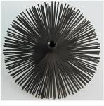Kartáč komínový nerezový - štosákový, z nerez pásků, průměr 150, závit M 12