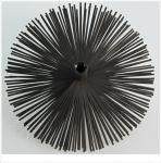 Kartáč komínový nerezový průměr 180 - sluníčko, zploštěný drát, závit M 12