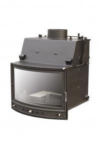 Teplovodní krbová vložka PAN 12 s klapkou a ext.přívodem vzduchu s výkonem 13,4 kW.