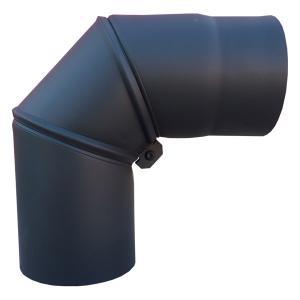 Koleno otočné Ø 150 mm, tl. 1,5 mm, černá