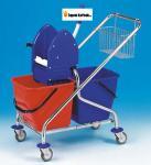 Úklidový vozík dvojkbelíkový REKORD 210031K