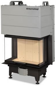 Vložka krbová Romotop ocelová HEAT C 2g L 65.51.31.21 - teplovzdušná třístranná 4,5-12kW černá