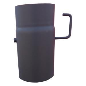 Roura s klapkou, dl. 250 mm, Ø 120 mm, tl. 1,5 mm, černá