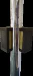 Hranatý parotěsný prostup hořlavou konstrukcí pro nerezový komín s pr. vnějšího pláště 300mm (typ BOX), délka 400mm