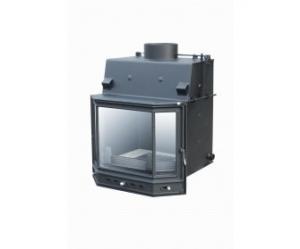 Teplovodní krbová vložka na dřevo Aquador PSD 15 o výkonu 16,8 kW.