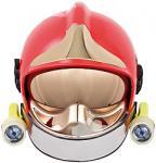 Přilba Gallet F1 SF se zlatým štítem včetně zátylníku, barva červená